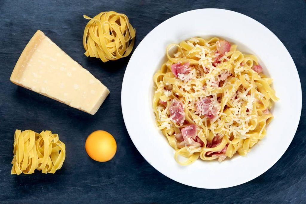 Espaguetis carbonara fitness
