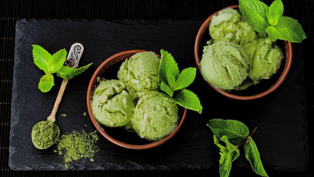 Helado natural de té verde receta