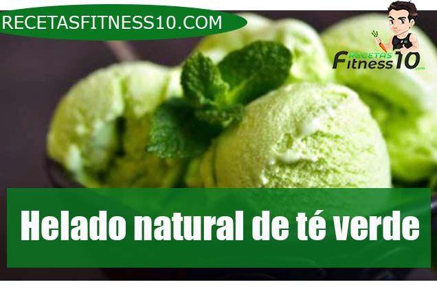 Helado natural de té verde