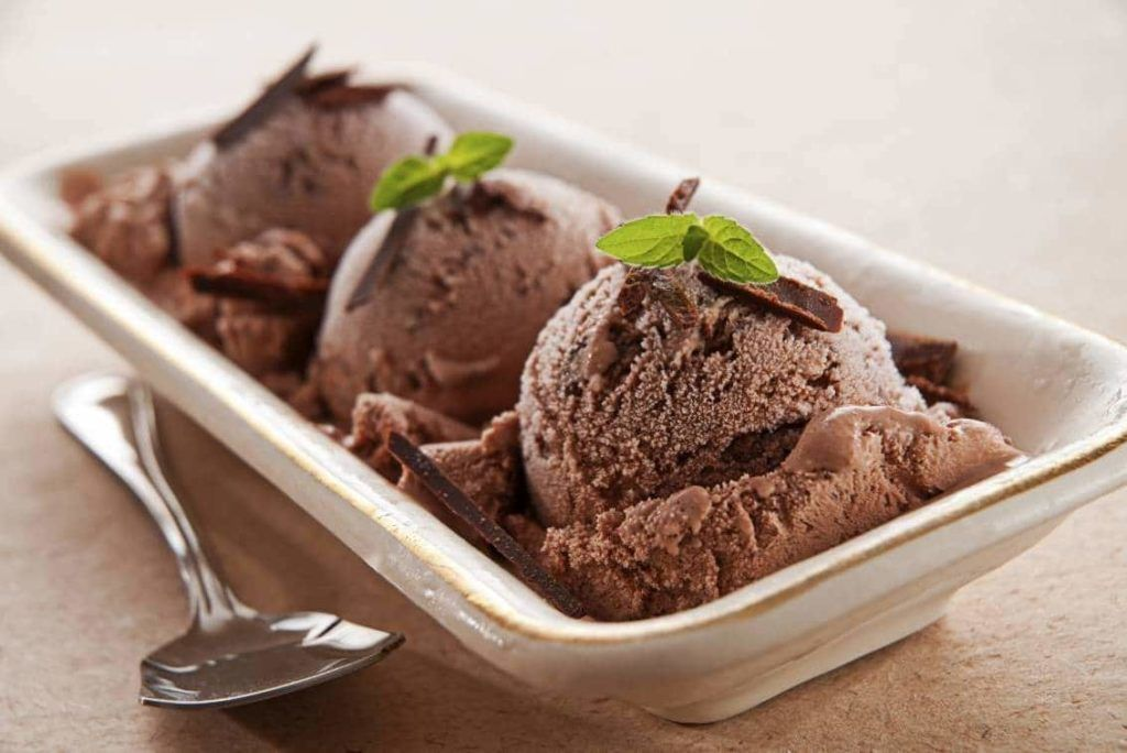 helado fitness de chocolate