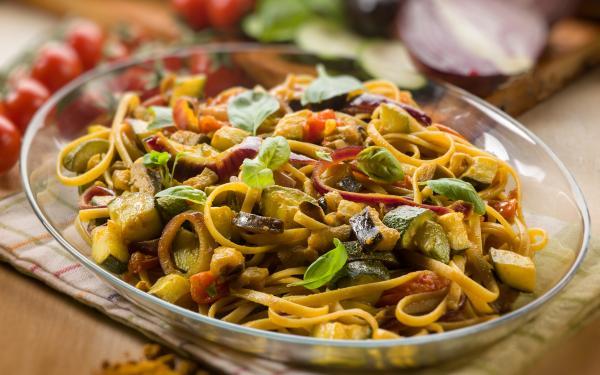 receta Calabacín al horno con pasta