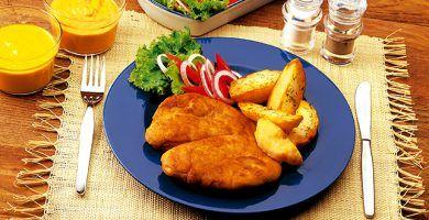 Milanesas de pollo bajas calorías