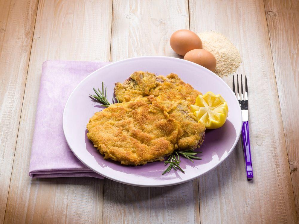 Milanesas de pollo bajas en calorías