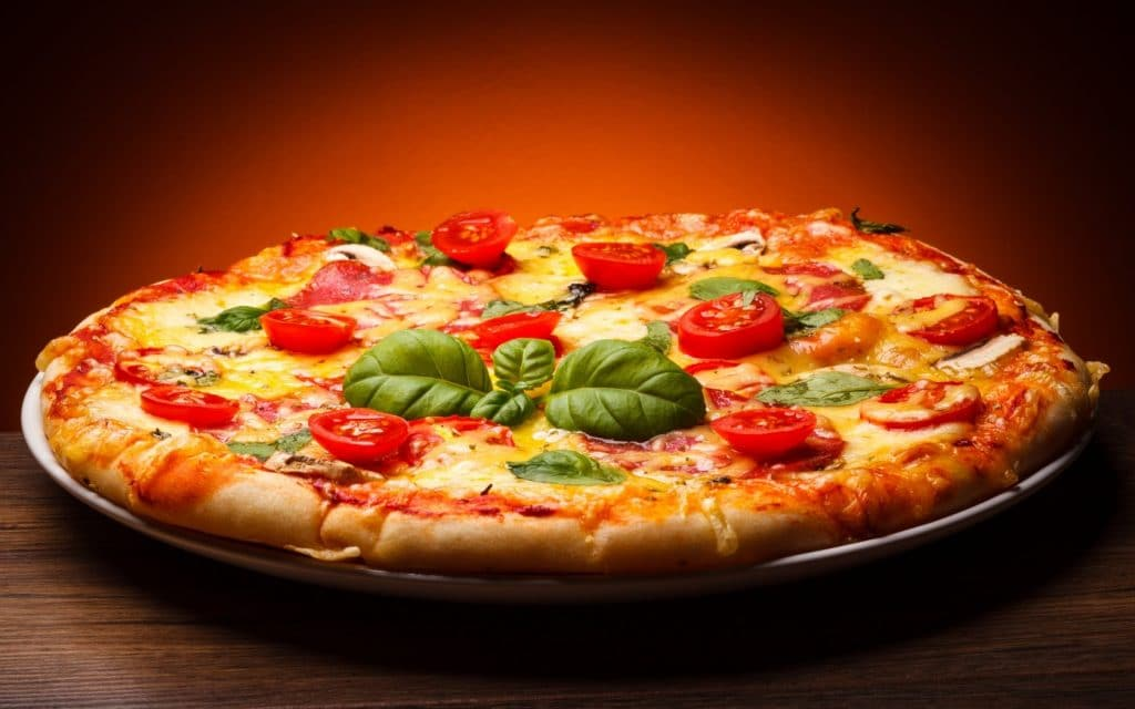 Pizza fitness sin grasa