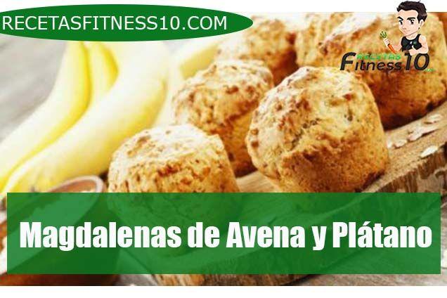 Magdalenas de Avena y Plátano