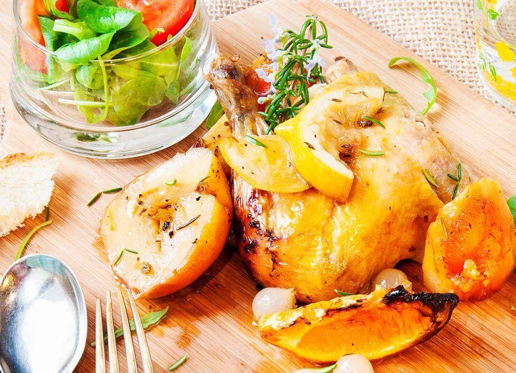 Pollo Asado con Naranja y Romero