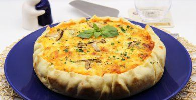 Receta de Pastel Salado de Queso Gorgonzola y Coliflor