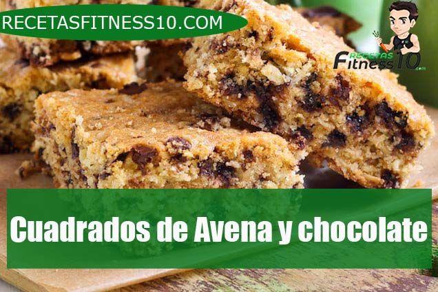 Cuadrados de Avena y chocolate