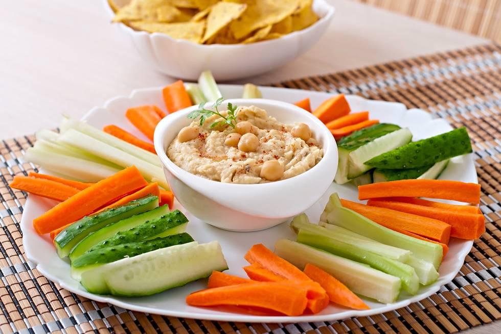 Hummus de zanahoria y aguacate