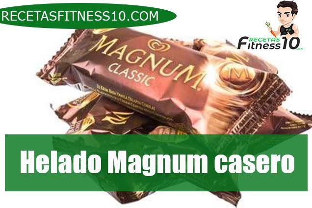 Helado Magnum casero
