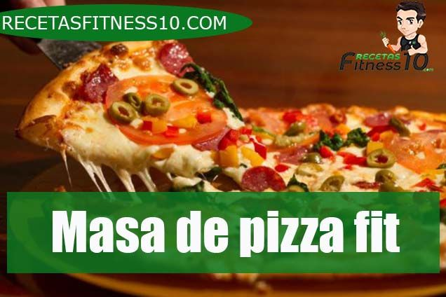Masa de pizza fit