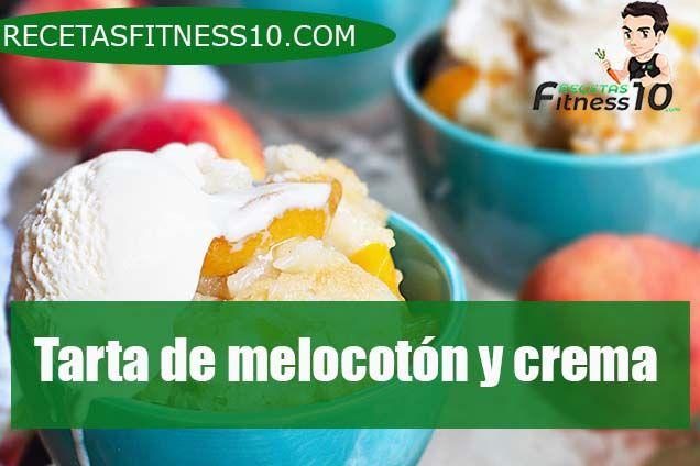 tarta de melocotones y crema