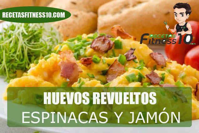 Huevos con espinacas champiñones y jamón